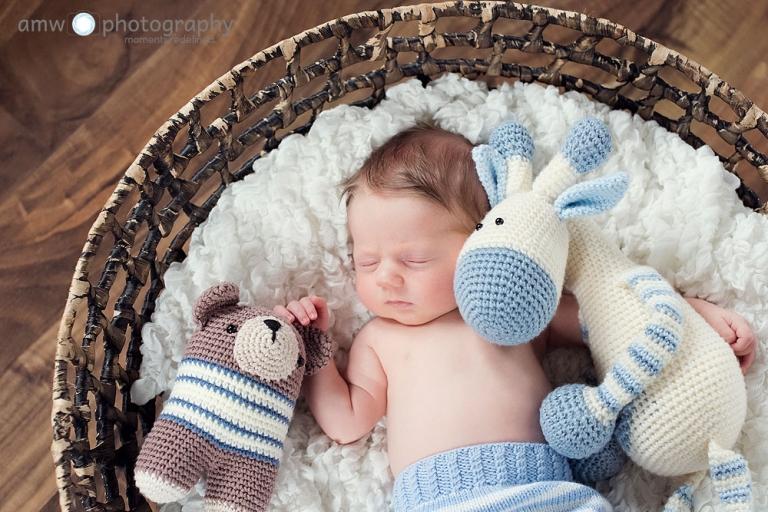 neugeborenenfotografie frankfurt nidderau wetterau main kinzig fotografie baby kuscheltiere haekeltiere familienbilder