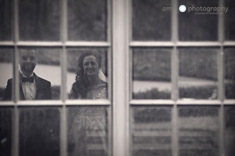 hochzeitsfotografie Hanau Hochzeit nidderau Spiegelung Brautpaar